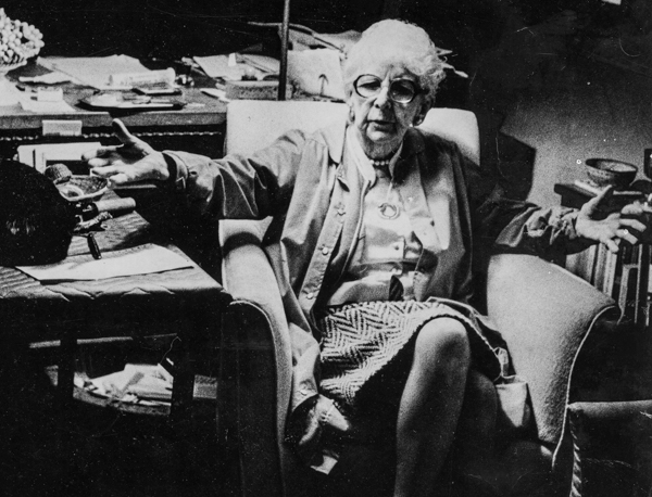 Marjory Stoneman Douglas in her office