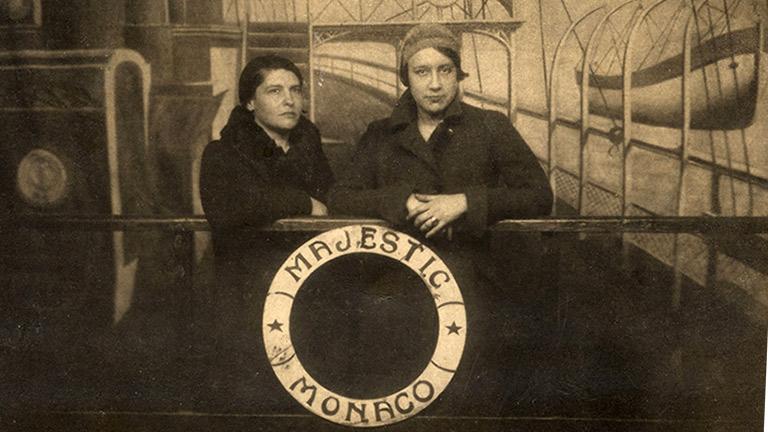 Amelia Peláez and Lydia Cabrera en route to Europe aboard the Majestic Monaco, 1930