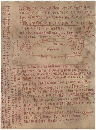 Wifredo Lam letter to Marta Frayde Barraqué, November 19, 1962.